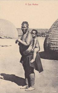 A Zulu Motherm Carrying Her Baby On The Back, Durban, South Africa, 1910-1920s
