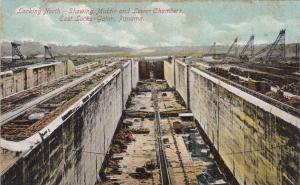 GATUN, Panama, 00-10s; Looking North, Showing Middle & Lower Chambers, East Lock