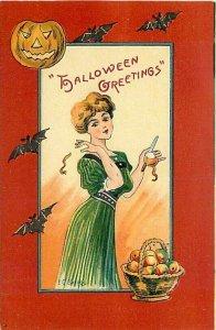 Halloween, Unknown No UP01-3, EC Banks, Woman Tossing Apple Peel over Shoulder
