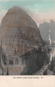 The Beehive, Lake Louise, Rockies, Canada, Early Hand Colored Postcard, Unused