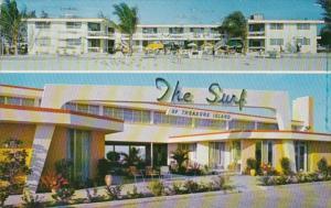 Florida St Petersburg The Surf Of Treasure Island 1957