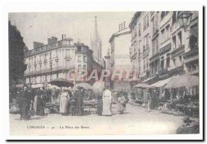 Limoges Postcard Old Place benches (on) (reproduction)