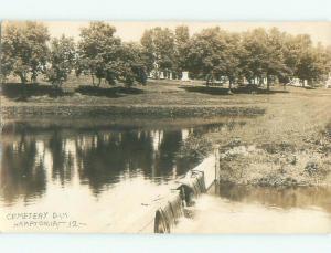 Pre-1920 rppc CEMETERY Hampton Iowa IA i8041
