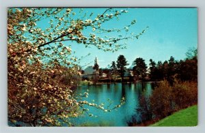 Hancock NH- New Hampshire, Typical New Hampshire Scenery, Spring,Chrome Postcard