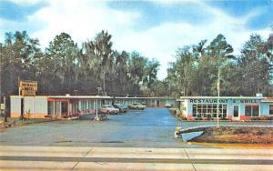 Ormond Beach FL Petrock's Motel, Old Cars Postcard