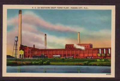 Florida colour PC Southern Kraft Paper Plant Panama City, Fla, unused