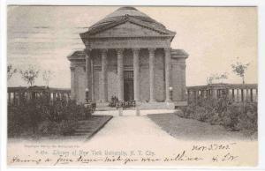 Library New York University  New York City 1905 postcard