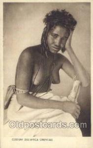 Costumi Africa Orientale African Nude Nudes Postcard Post Card  Costumi Afric...