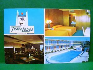 Postcard FL Lake Park Travelodge Motel near Palm Beach