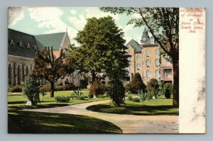 Notre Dame Grounds View South Bend Indiana Postcard