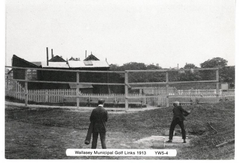 postcard WALLASEY MUNICIPAL GOLF LINKS 1913 from Yesterday's Wirral unposted