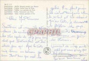 Postcard Modern Santorine Thera Partial View of Fira