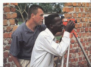 Church Mission Society Postcard - Building Project in Uganda  EB218