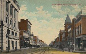 DANVILLE , Illinois , 1915 ; East Main Street