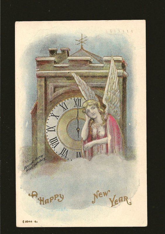 Postmarked 1910 Toronto Ont A Happy New Year Embossed Postcard