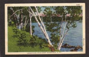 NH Greetings from EAST WAKEFIELD NEW HAMPSHIRE Linen PC