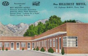 PROVO , Utah, 30-40s ; New Hillcrest Motel