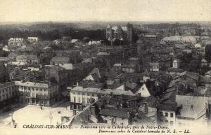 Postcard Vintage CHALONS SUR MARNE Panoramic View French Reproduction