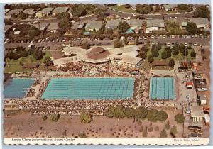 Aerial view of Santa Clara International Swim Center, California postcard