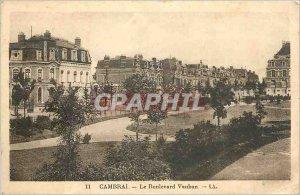 Old Postcard Cambrai on Boulovard Vauban LL