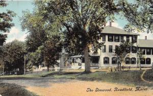 Readfield Maine~The Elmwood Hotel?~Houses Bknd~Unpaved Street~Tree Stump~c1910
