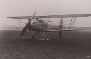 Hart Napier Dagger Engine Military Plane Vintage Plain Back Postcard Old Photo