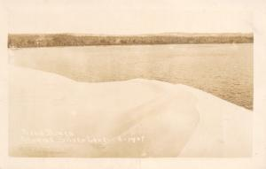 Hart Michigan~Silver Lake Sand Dunes~1950s Real Photo Postcard~RPPC