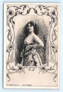 Postcard French De Meryem Edwardian Risque Atelier Reutlinger Paris c1902 B39