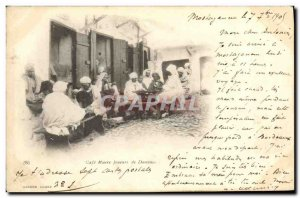 Postcard Old Algeria Cafe Maure Players Dominos