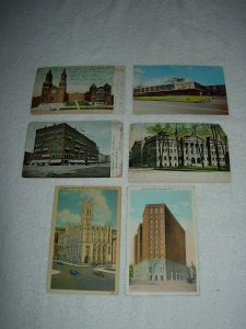 Syracuse NY - Lot Of 6 Great Vintage Postcards - x0602