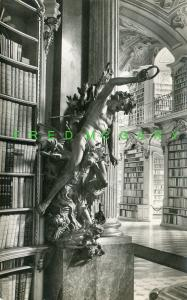 Austria Fankhouser RPPC: Stammel Carving of Devil in Abbey Library