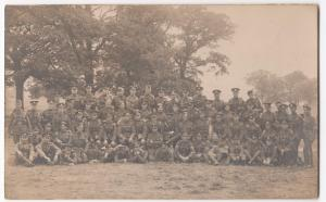 WW1; Army Group Photo, Mixed Units Inc MGC, Scottish Regiments RP PPC, Unused
