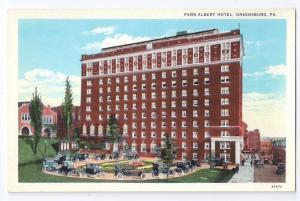 Penn Albert Hotel Greensburg PA 30's 40's