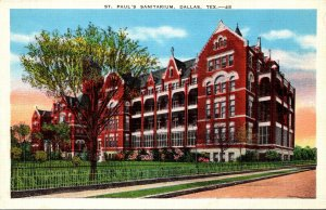 Texas Dallas St Paul's Sanitarium