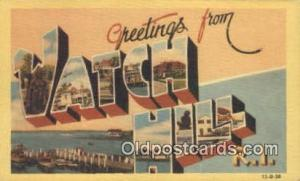 Watch Hill, RI, USA Large Letter Town Postcard Post Card Old Vintage Antique ...