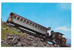 NH White Mountain Cog Railway Mt Washington Train Postcard