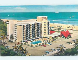 Pre-1980 HOWARD JOHNSON MOTEL Fort Lauderdale Florida FL c1697
