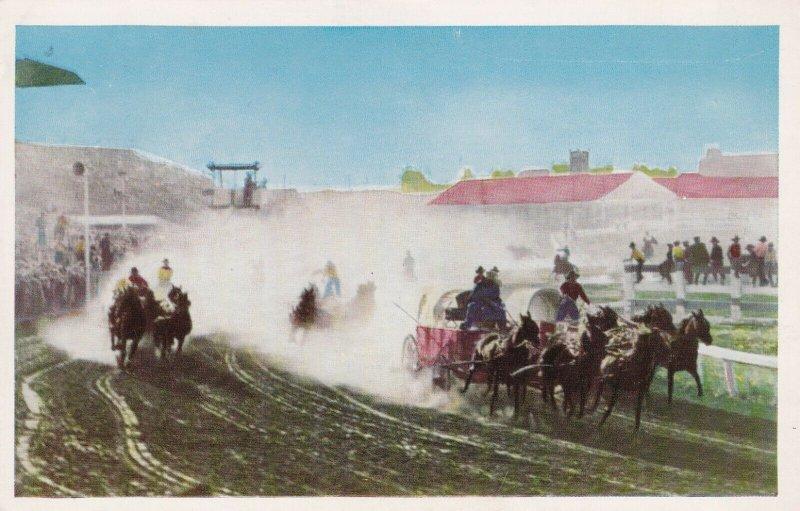 CALGARY , Alberta , 1950-60s ; Chuck Wagon Races #3
