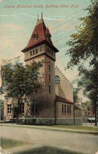 Postcard Oneida Historical Society Building New York