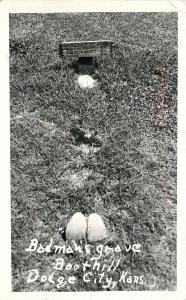 Dodge City Kansas~Badman's Grave Boothill~Boots Sticking Up~1947 Real Photo~RPPC