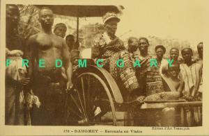 1920 Dahomey Carte Postale: Visit of Prince Batouala