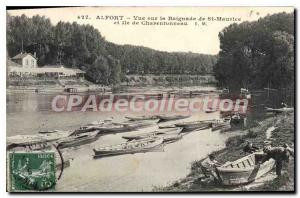 Postcard View Of The Old Alfort Swimming From St Mauritius Charentonneau