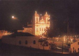 Brazil Brasil Bonfim Church at Night Salvador Postcard