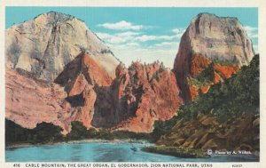 ZION National Park , Utah , 1910s ; Cable Mountain