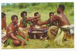 Yanqona Ceremony, Men Preparing The Kava Drink, Fiji, 1940-1960s