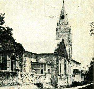 Steeple Romain Catholique Église Frederiksted St Croix Virgin Îles Unp Postale