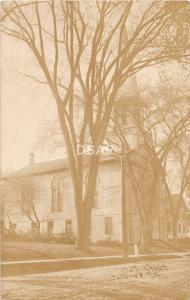 A4/ Hallowell Maine Me RPPC Real Photo Postcard 1907 Methodist Church