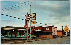 ALPINE, Texas TX  Roadside MOTEL BIEN VENIDO ca 1960s Brewster County Postcard