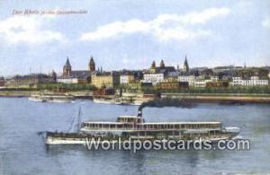 Der Rhein Germany, Deutschland Postcard Mainz Gesamtansicht Der Rhein Mainz G...