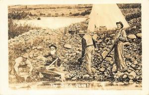 The Gold Quest Gold Mining Real Photo Postcard